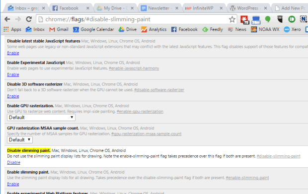 Chrome WordPress Fix