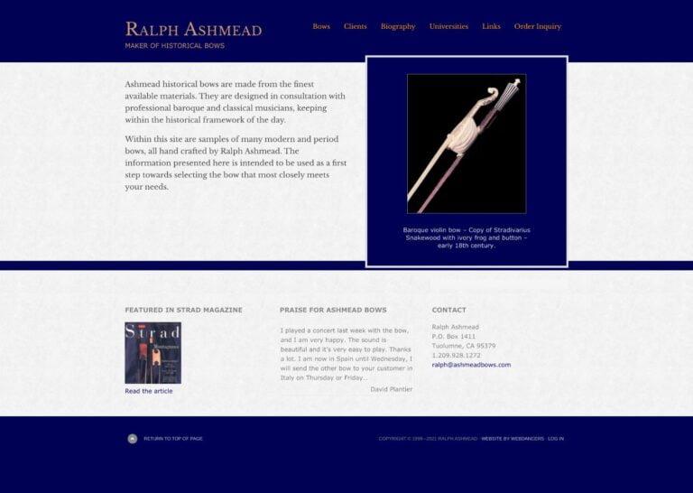 Ashmead Historical Bows